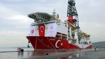 Türkiye'nin ikinci sondaj gemisi Yavuz, Akdeniz'e uğurlandı