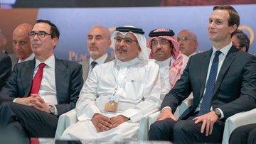 Kushner Bahreyn'de sınırları olmayan haritalarla sunum yaptı
