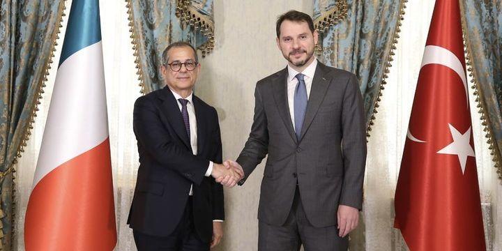 Bakan Albayrak, İtalya Ekonomi ve Maliye Bakanı Tria ile görüştü