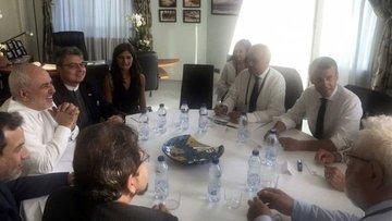 Macron İran Dışişleri Bakanı Zarif ile görüştü