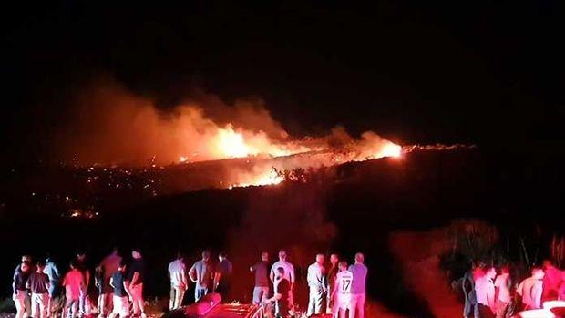 Girne'de askeri bölgedeki cephanelikte patlama yaşandı