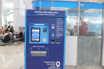 İstanbul Havalimanı'nda harç pulu otomat uygula...