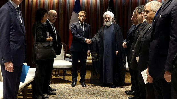 Macron: Trump ile Ruhani arasında görüşmelerin başlaması için şartlar oluştu