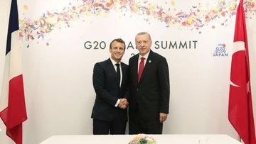 Cumhurbaşkanı Erdoğan, Fransa Cumhurbaşkanı Macron ile te...