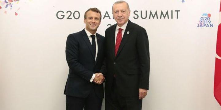 Erdoğan Fransa Cumhurbaşkanı Macron ile telefonla görüştü