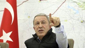 Bakan Akar, Iraklı mevkidaşı el-Şamari ile görüştü