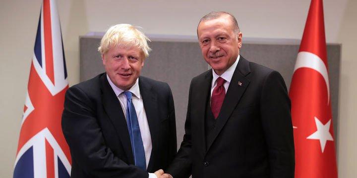 Cumhurbaşkanı Erdoğan Johnson ile görüştü