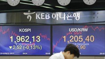 Asya paraları azalan risk iştahıyla düştü