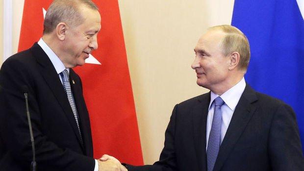Cumhurbaşkanı Erdoğan ile Rusya Devlet Başkanı Putin ile görüştü