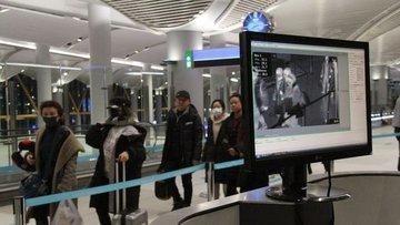 Çin'den İstanbul'a gelen yolcuların termal kameralarla ko...