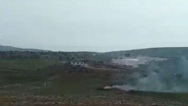 İdlib bölgesinde Esad rejimine ait bir helikopter daha düşürüldü