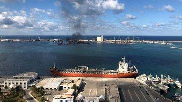 Hafter saldırısının ardından Trablus Limanı'nda faaliyet ...