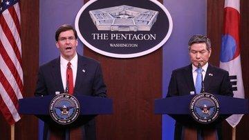 ABD Kovid-19 kaygısıyla Güney Koreyle ortak askeri eğitim...