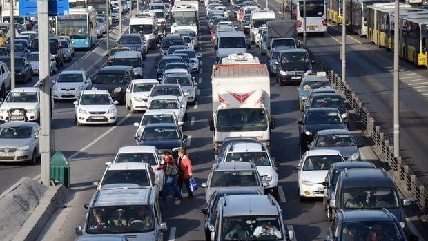 Trafiğe kayıtlı araç sayısı şubatta yüzde 1,5 arttı