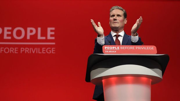 İngiltere'de İşçi Partisi'nin yeni lideri Keir Starmer oldu