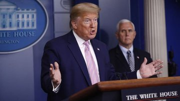 """Trump ve Pence ABD'de vaka sayısında """"yumuşama"""" olduğunu ..."""