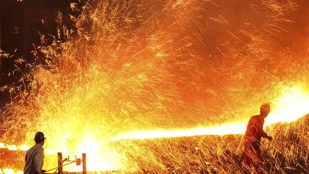 Küresel ham çelik üretimi Nisan'da düştü