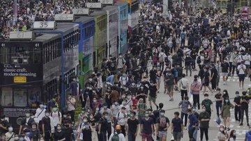 Hong Kong'da Çin'in yeni güvenlik yasası girişimi protest...