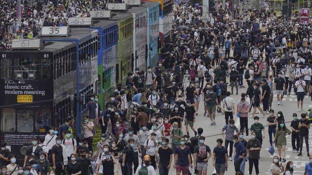 Hong Kong'da Çin'in yeni güvenlik yasası girişimi protesto edildi