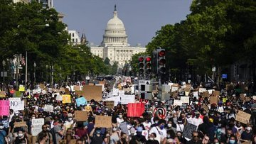 """ABD'de ırkçılık karşıtı """"George Floyd protestoları"""" 9. gü..."""