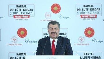 Bakan Koca, Kartal Dr. Lütfi Kırdar Şehir Hastanesi'nin a...