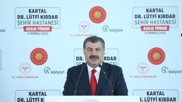 Bakan Koca, Kartal Dr. Lütfi Kırdar Şehir Hastanesi'nin açılış töreninde konuştu