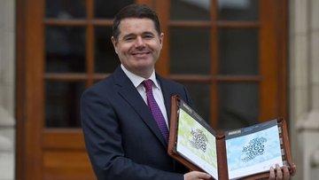 Euro Grubu'nun yeni başkanı İrlanda Maliye Bakanı Paschal...
