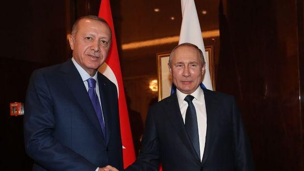 Cumhurbaşkanı Erdoğan Rusya Devlet Başkanı Putin'le telefonda görüştü