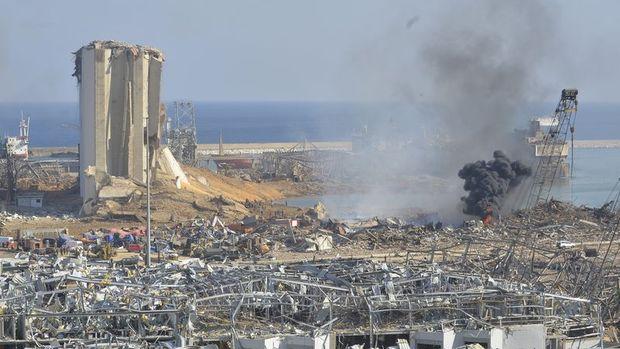 Lübnan Beyrut Limanı'ndaki
