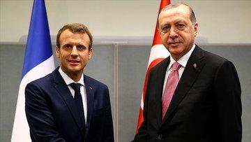 Cumhurbaşkanı Erdoğan Fransa Cumhurbaşkanı Macron ile tel...