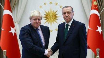 Cumhurbaşkanı Erdoğan ile İngiltere Başbakanı Johnson gör...