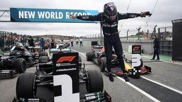 Portekiz Grand Prix'sini kazanan Hamilton, F1 tarihine geçti