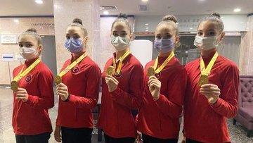 Kadın Ritmik Cimnastik Grup Milli Takımı Avrupa şampiyonu...
