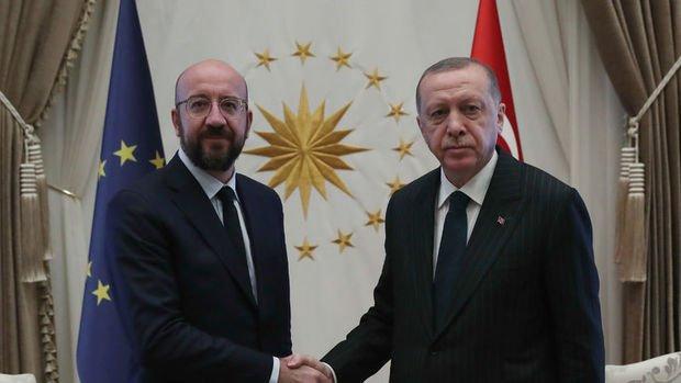 Erdoğan, AB Konseyi Başkanı Michel ile görüştü