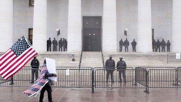 ABD Kongre binasında dış güvenlik tehdidi nedeniyle giriş...