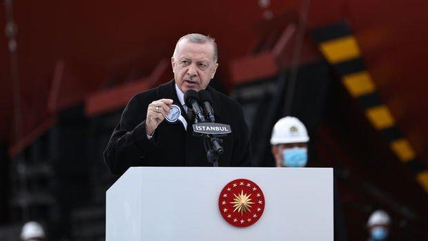 Erdoğan: Kendi savaş gemisini tasarlayan 10 ülke içindeyiz