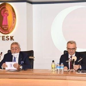 TCMB BAŞKANI AĞBAL, TESK VE TOBB'U ZİYARET ETTİ