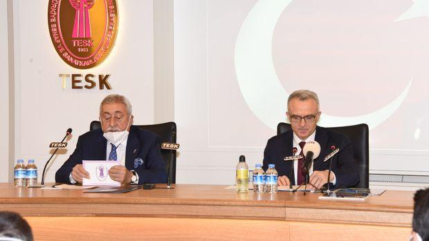 TCMB Başkanı Ağbal, TESK ve TOBB'u ziyaret etti