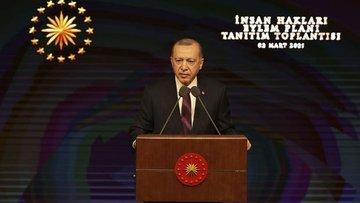 Erdoğan insan hakları eylem planını açıkladı