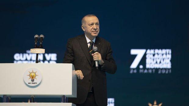 Erdoğan'dan AK Parti kongresinde ekonomi mesajları