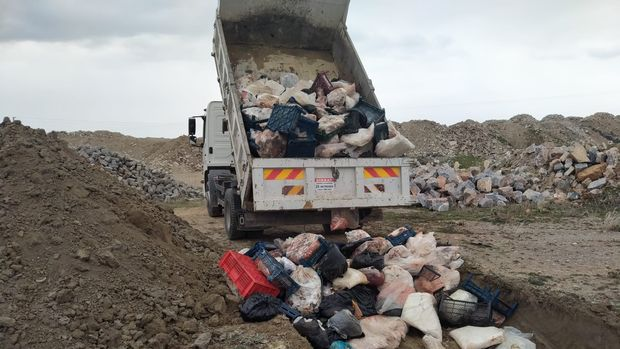 3 ton bozuk et ele geçirildi