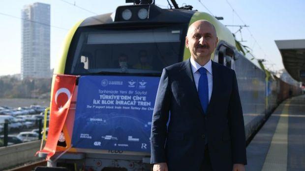 Bakü-Tiflis-Kars Demir Yolu'nda taşınan yük miktarı 155 bin tona yükseldi