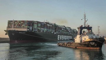 Mısır, Süveyş Kanalı'nı kapatan gemiyi tazminat alana kad...