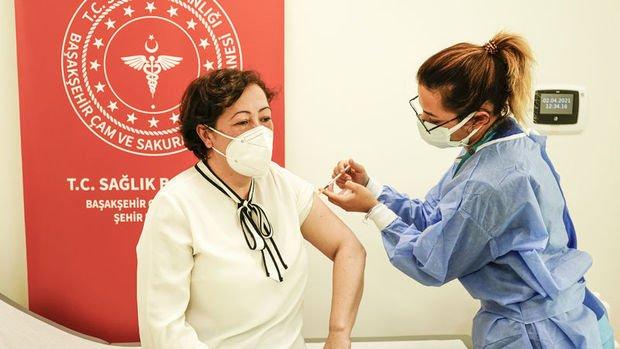 Türkiye'de uygulanan toplam Kovid-19 aşı dozu 20 milyonu aştı