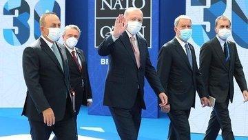 Cumhurbaşkanı Erdoğan'dan NATO zirvesinde ikili görüşmeler