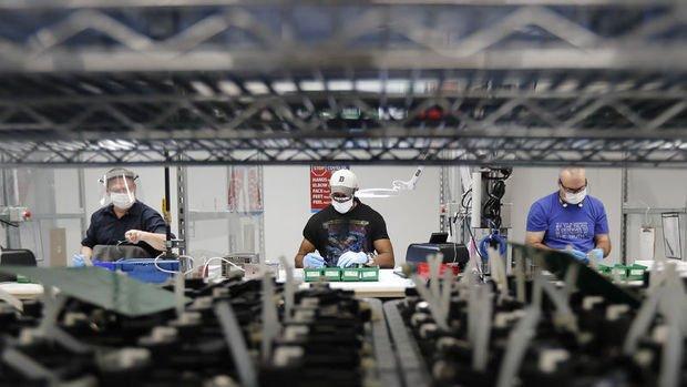 ABD'de imalat PMI rekor seviyeye yükseldi